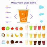 Skapare för bubbladrinkfruktsaft för appsdesign Arkivfoto