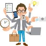 Skapare-som män som utför multitasking royaltyfri illustrationer