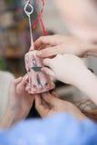 Skapelse av den handgjorda stearinljuset Royaltyfria Bilder