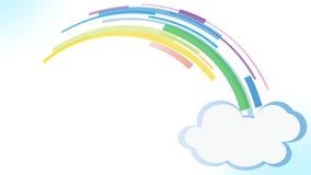 Skapelse för regnbågefärgremsor med det popup molnet lager videofilmer