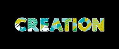 Skapelsebegreppsord Art Illustration vektor illustrationer