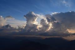 Skapelsen av moln dess blick utmärkt Arkivfoton
