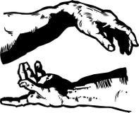 skapelsen hands religi Arkivbilder