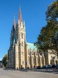 Skara大教堂,瑞典 免版税图库摄影