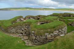 Skara Brae, A Neolithic Settlement In The Coast Of Mainland Island, Orkney, Scotland Stock Image