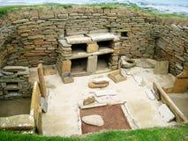 Skara Brae (de Eilanden van Orkney, het UK) Stock Foto