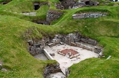 Skara Brae - het dorp van Schotland Neoliphic Royalty-vrije Stock Afbeeldingen