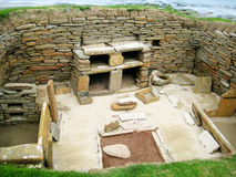 Skara Brae (Orkney Islands, UK). Neolithic house from Skara Brae (Orkney islands, Scotland, UK Stock Photo