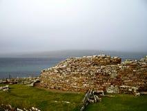 Skara Brae. Prehistoric stone village in the Orkney Islands, Scotland stock photos