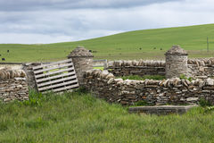 Skara Brae rural plain in Orkney, Scotland. Royalty Free Stock Photos