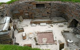 Skara Brae - Scotland Neoliphic village Stock Image