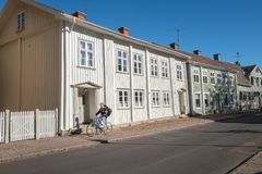 Skara, Sweden. October 6, 2016: Idyllic small town buildings in Skara. Skara is one of the oldest towns in Sweden and dates back to the 11th century Stock Photos