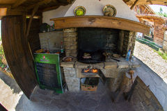 Skara - traditional Bulgarian oven for cooking meat Royalty Free Stock Images