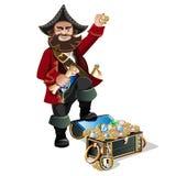 Skarbów piraci i klatka piersiowa Zdjęcie Royalty Free