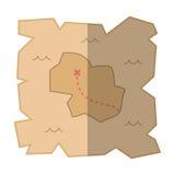 Skarb mapy ikony odosobniona wektorowa ilustracja Obrazy Royalty Free