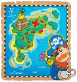 Skarb mapy tematu wizerunek 4 Zdjęcie Stock