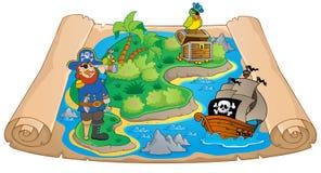 Skarb mapy tematu wizerunek 7 Obrazy Stock