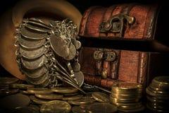 Skarb świeczka i klatka piersiowa Zdjęcie Stock