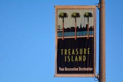Skarb wyspa podpisuje wewnątrz San Fransisco Kalifornia Fotografia Royalty Free