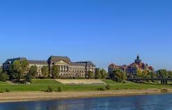 Skarba budynek Staatskanzlei i Sachsische, Drezdeński, Niemcy fotografia royalty free
