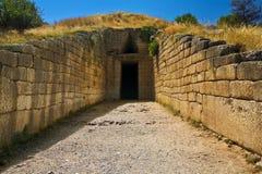 Skarbiec Atreus, Mycenae fotografia royalty free