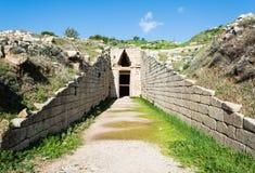 Skarbiec atreus przy mycenae, Grecja obraz stock