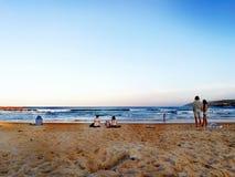 Skarbikowana kędzior plaża obraz stock