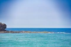 Skarbikowana kędzior plaża Zdjęcie Royalty Free