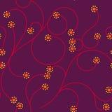 Skarbikowanego Małego kropka kwiatu Bezszwowy Deseniowy Gorący kolor Zdjęcie Stock
