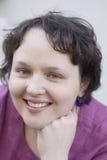 skarbikowanego portreta uśmiechnięta kobieta Fotografia Stock
