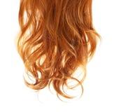 Skarbikowany Czerwony włosy odizolowywający na bielu Zdjęcia Royalty Free