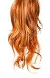 Skarbikowany Czerwony włosy odizolowywający na bielu Obraz Royalty Free