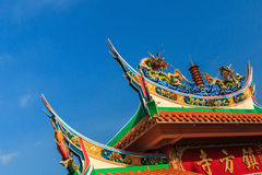 Skarbikowany miasteczko strony świątyni dach Zdjęcia Stock