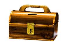 Skarbu drewna pudełko Fotografia Stock