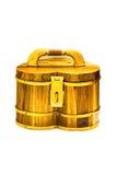 Skarbu drewna pudełko Zdjęcie Stock