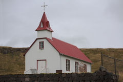 Skardskirkja, eine der vielen isländischen Kirchen Lizenzfreies Stockfoto