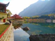 Skardu Gilgit Baltistan Pakistan della località di soggiorno del lago Shangrila Fotografia Stock