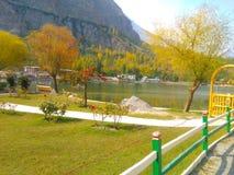 Skardu Gilgit Baltistan Pakistan della località di soggiorno del lago Shangrila Fotografie Stock
