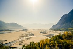 Skardu landform. Gilgit-Baltistan, Pakistan. stock photography