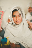 SKARDU, PAKISTAN - APRIL 18: An unidentified Children in a village in the south of Skardu are learning in the classroom. SKARDU, PAKISTAN - APRIL 18: An stock photo