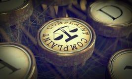 Skarga klucz na Grunge maszyna do pisania. fotografia stock
