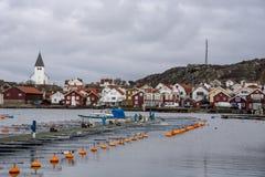 Skarhamn在瑞典在冬天 免版税库存照片