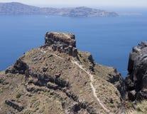 Skaros岩石,圣托里尼 免版税库存图片