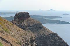 Skaros bascule Imerovigli, Santorini, Grèce Photo libre de droits