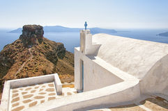 Skaros with Church Royalty Free Stock Photos