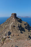 Skaros rock at Imerovigli , Santorini Royalty Free Stock Photo