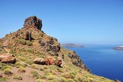 Skaros rock in Santorini Royalty Free Stock Photo