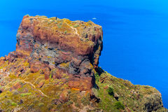 Skaros rock on Santorini island Royalty Free Stock Photography