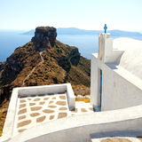 Skaros santorini Royalty Free Stock Photography