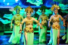 Skarp smakdynastin--Den historiska magiska magin för stilsång- och dansdrama - Gan Po Arkivbilder